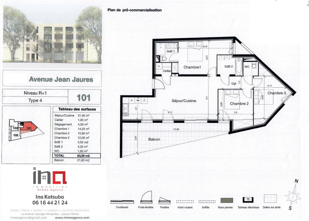 101 NA Vente appartement Jean Jaures