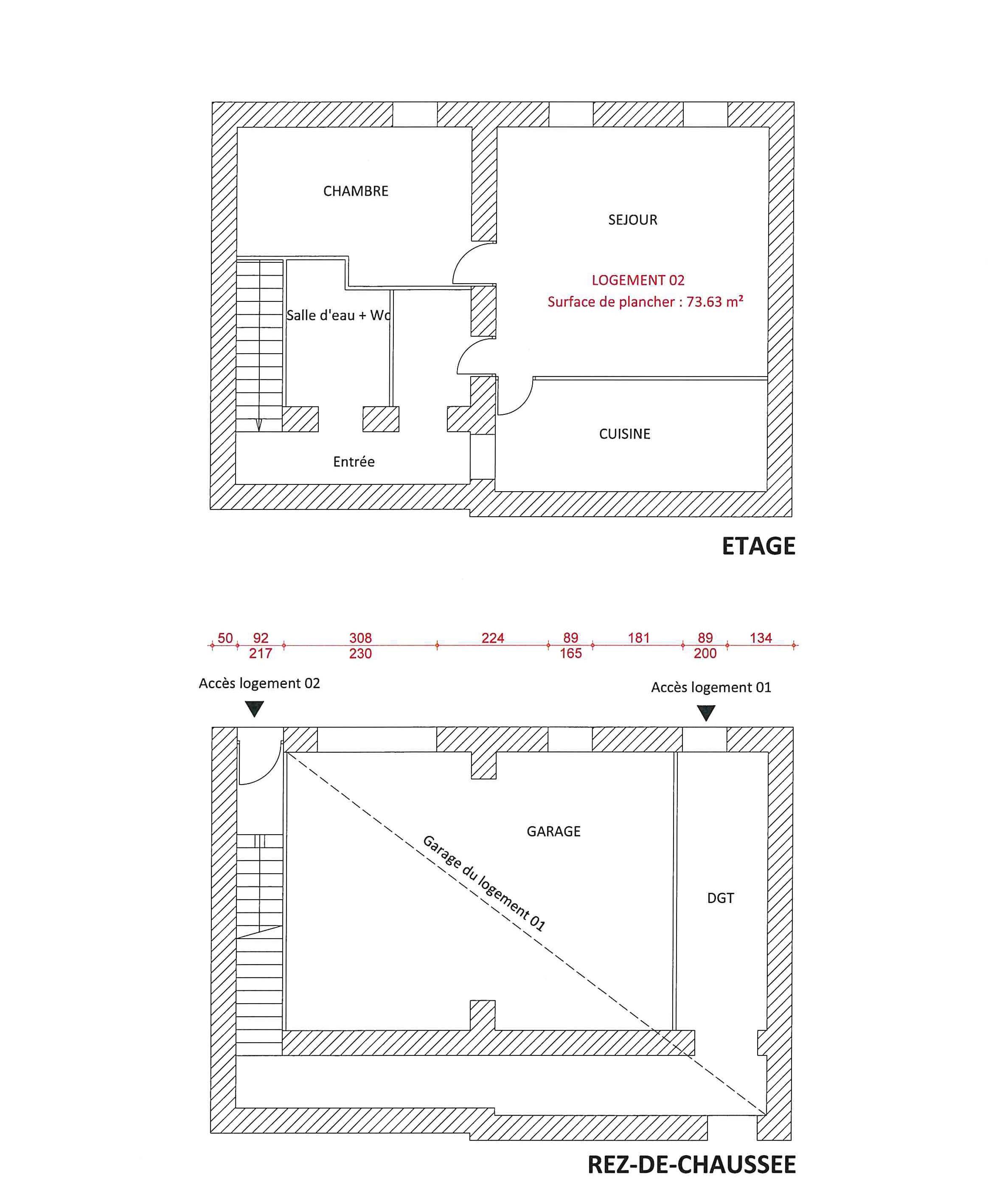 Plan 1 er etage